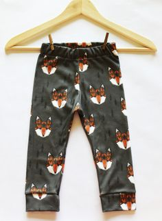Organic Geometric Fox Baby Boy Leggings - Made to Order