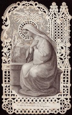 The Annunciation from Holy Card Heaven!