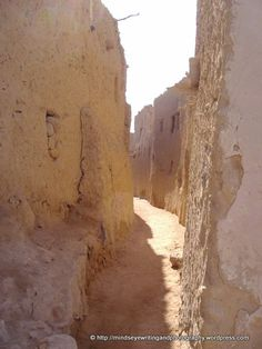 path between homes, Siwa Oasis, Egypt  http://www.facebook.com/MindseyeWritingAndPhotography