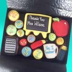 Teacher thank you cookie gift set customcookieco.co.uk #teacher #customized gifts #cookies