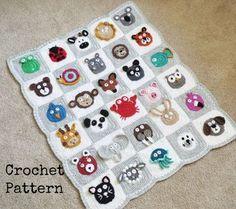 BABY BLANKET PATTERN Crochet Pattern Instant por AlyseCrochet