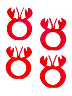 Get crackin' with with set of four made in the America lobster themed napkin rings. Surface Studio, Napkin Rings, Napkins, America, Products, Towels, Dinner Napkins, Usa, Gadget