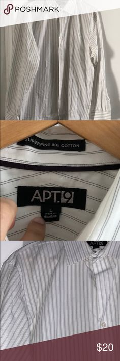 Men's Apt. 9 Shirt Great condition. Size large. 100% cotton. Sleeve length about 26 inches long, collar is about 18 inches. Apt. 9 Shirts Dress Shirts
