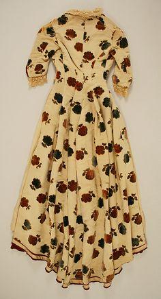 Dress (back view) Date: ca. 1882 Culture: American Medium: silk, metal, cotton Accession Number: C.I.58.1.1