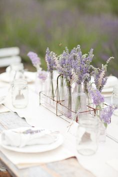 simple centerpieces...i like the idea of these for the rehearsal dinner or even a wedding shower