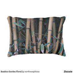 Bamboo Garden Floral Decorative Pillow