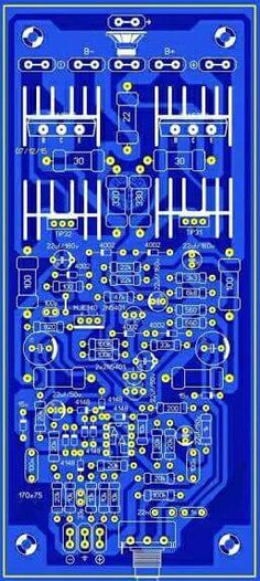 Sharing PCB Power Amplifier, Tone Control Speaker Protector, etc. You can see all about PCB Design of all around the world here: Electronic Circuit Design, Electronic Kits, Electronic Engineering, Electronic Schematics, Valve Amplifier, Audio Amplifier, Circuit Board Design, Speaker Box Design, Computer Setup
