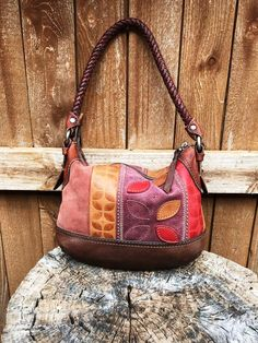 3893d5a3388e Gently used brown cow leather and suede Fossil hobo shoulder bag in brown