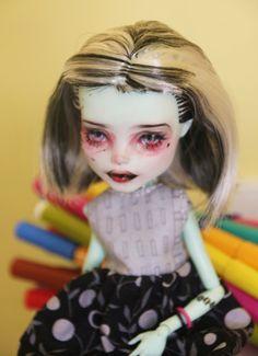 Monster High Frankie Stein OOAK Custom Doll Repaint