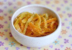Casquinha de Laranja Cristalizada ~ PANELATERAPIA - Blog de Culinária, Gastronomia e Receitas via @Alessandra Afonso Rigazzo