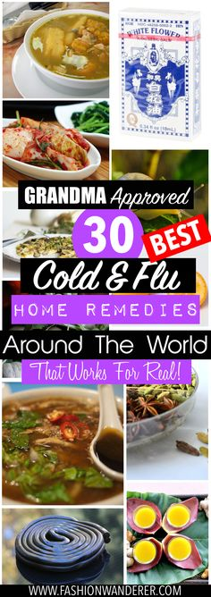 I've just tried these 30 grandma approved cold and flu HOME REMEDIES from around the world that works for REAL! And these simple tips are SO EASY and beat FAST as possible! I've been wanting to try this home remedies to fight cold and flu! From lizard soup to onion omelettes! Interesting and unique remedies you can DIY at home! So pinning this sore throat pin!    #coldflu #homeremedies #natural #healthy #tips #sickness #flu #fluseason #Herbs #Herbal #kids #sick