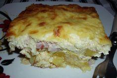 Retete Culinare - Cartofi gratinati cu afumatura Romanian Food, Lasagna, Quiche, Baking, Breakfast, Ethnic Recipes, Desserts, Pork, Recipes
