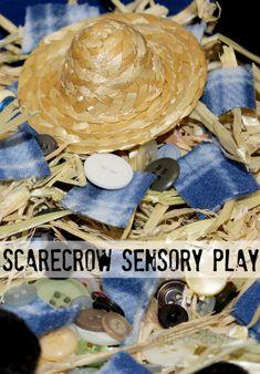 Preschool Scarecrow Sensory Play