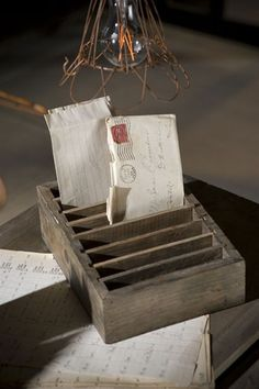 Slotted Farmhouse Postcard Holder
