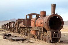 Abandoned steam engine in Uyuni, Bolivia train cemetery (MARTIN BERNETTI/AFP/Getty Images)