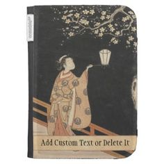 Young Woman Admiring Plum Blossoms at Night art Case For The Kindle #young #woman #japanese #lady #plum #blossom #vintage #oriental #gifts #accessories #harunobu #suzuki