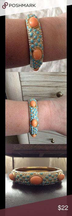 STELLA & DOT Bracelet Orange and turquoise with rhinestones. Stella & Dot Jewelry Bracelets