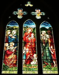 Tour Scotland photograph of stained glass on ancestry visit to Brechin Cathedral.