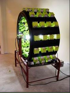 A fully-laden Volksgarden this solution grows plants in 1/3 time saving water.