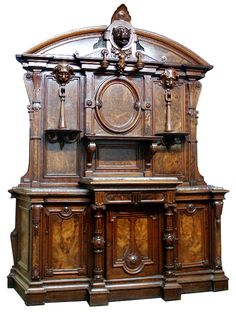 Furniture; Sideboard; Italianate, Renaissance Revival