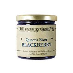 Queens River Blackberry Jam (just an example brand pictured here.)