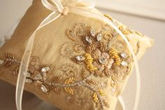 Heirloom Ring Bearer Pillow  Product code NAIMA by MillieICARO, $110.00