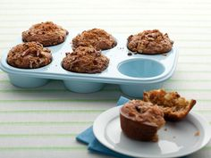 Ellie's Apple Muffins    Replacing butter with applesauce in these muffins doesn't just make them more nutritious - it also makes them moist and deepends their apple-y flavor.