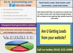 Real estate leads that are expired are a great way to make money with real estate lead generation. Call us today to start getting high quality leads for real estate.  http://www.dnjmarketing.com/exclusive-leads.php