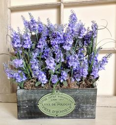 Mothers Day Lavender Table Decorations - Mothers Day Flowers - Wood Box Table Centerpieces - Summer Floral Arrangement - Home Floral Decor on Etsy, $68.00