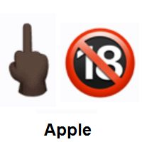 Discover the meanings of 🖕🏿🔞 Middle Finger: Dark Skin Tone and No One Under Eighteen Emojis with suggestions and ideas to use this symbol in your daily communication. Middle Finger Emoji, Emoji Dictionary, Emoji Design, Folded Hands, Laughing Emoji, Angry Face, Heart Emoji, The Secret Book, Dark Skin Tone