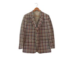 Nerdy Clothes Nerd Clothing Plaid Blazer by SecondHandObsession, $54.00