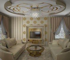 Viktoria Taran project with Vismara Design TV stand in gold foil and White. Art deco style #vismaradesign #luxuryvilla #luxuryproject