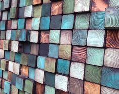 Wandkunst Holz-Kunst-Skulptur aufgearbeiteten Holz von WallWooden
