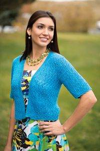 Cerulean Lace Cardigan from Love of Knitting - Spring 2014 Issue