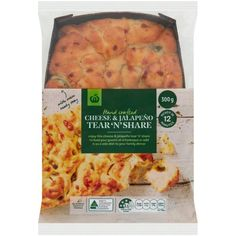 3.56 stars, 678 reviews for Woolworths Cheese Jalapeno Tear 'n' Share  300g on Bunch.