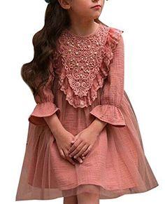 SailGoal Girls Sweet Princess Style Trumpet sleeves Lace Mesh Dresses SailGoal, http://www.amazon.com/dp/B01N4FZC2Q/ref=cm_sw_r_pi_dp_x_Fv4BzbJTFH4YM