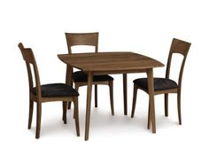 Copeland Catalina 40-inch Square Dining Table with Ingrid Sidechair