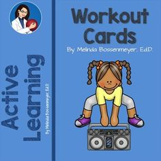 This set of 12 workout cards shows an illustration of the various exercises to be performed. #exercise #playmatters