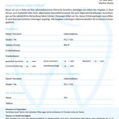 Downloads Merkblatter Anamnesebogen