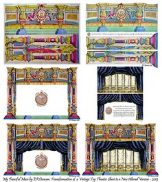 EKDuncan - My Fanciful Muse: French Paper Theater - d'Epinal No.1579 Part 1 altered scans of old French paper theaters. Permission to use for projects :-)