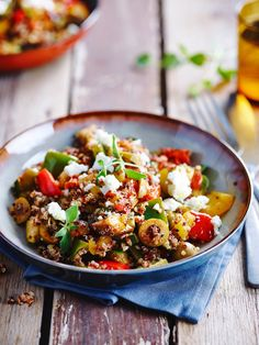 Home - veerle.be Easy Cooking, Healthy Cooking, Healthy Food, Couscous, Veggie Recipes, Healthy Recipes, Veggie Food, Whole Wheat Pizza, Healthy Salads