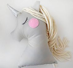 Unicorn doll Nursery Decorative pillow Animal kids pillow