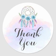 Thank You Stickers, Thank You Cards, Happy Birthday Logo, Logo Online Shop, Painted Antlers, Shabby Chic Boutique, Dream Catcher Native American, Watercolor Feather, Sky Design