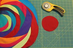 A Quilter's Table: Improv Layered Circle