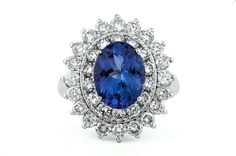 Tanzanite and diamond ring by GALACIA DESIGNER JEWELLERY. Jewelry Design, Designer Jewellery, Sapphire, Jewels, Diamond, Rings, Products, Jewelery, Ring