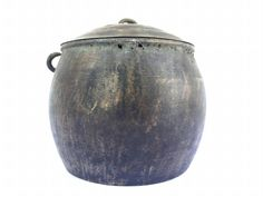 ANTIQUE RICE POT 170mm Borneo Brass Artifact Tribal Asia Native Asian Cooker Cauldron