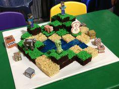 #Minecraft Cake via Reddit user LegitimateSnape