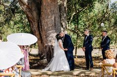 This South West W.A wedding at the beautiful Mornington Springs in Harvey  was just plain and simply gorgeous. Luke+Kaila were even more so though.  Venue: Mornington Springs W.A.  Dress: Brides By Design  Florist: Bloem Floral Design  MUA: Mercyll MUA  Hair: Arcorace