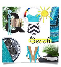 """""""Sun's Out: Beach Day"""" by kari-c ❤ liked on Polyvore featuring Beach Bunny, Littledoe, UGG, Gottex, Prada and beachday"""