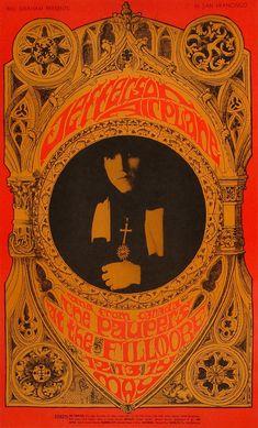 Jefferson Airplane Poster Fillmore Auditorium (San Francisco, CA) May 12, 1967